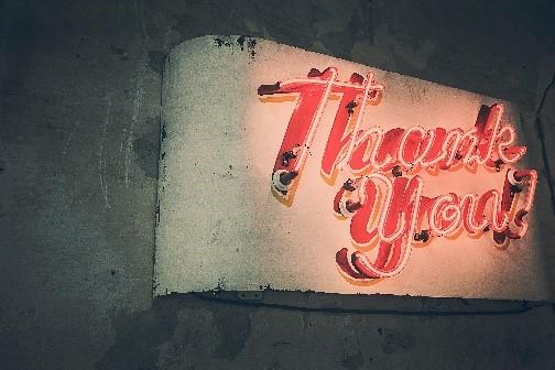 neue Wege - Dankeschön